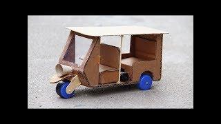Sáng tạo hay - Làm xe Tuk Tuk từ bìa Carton
