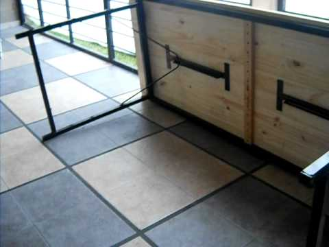 Mesa plegable metal2 youtube - Estructuras metalicas para mesas ...