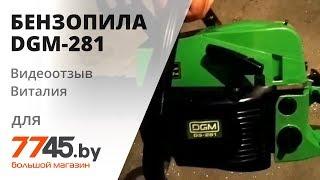 Бензопила DGM-281 видеообзор (отзыв) Виталия