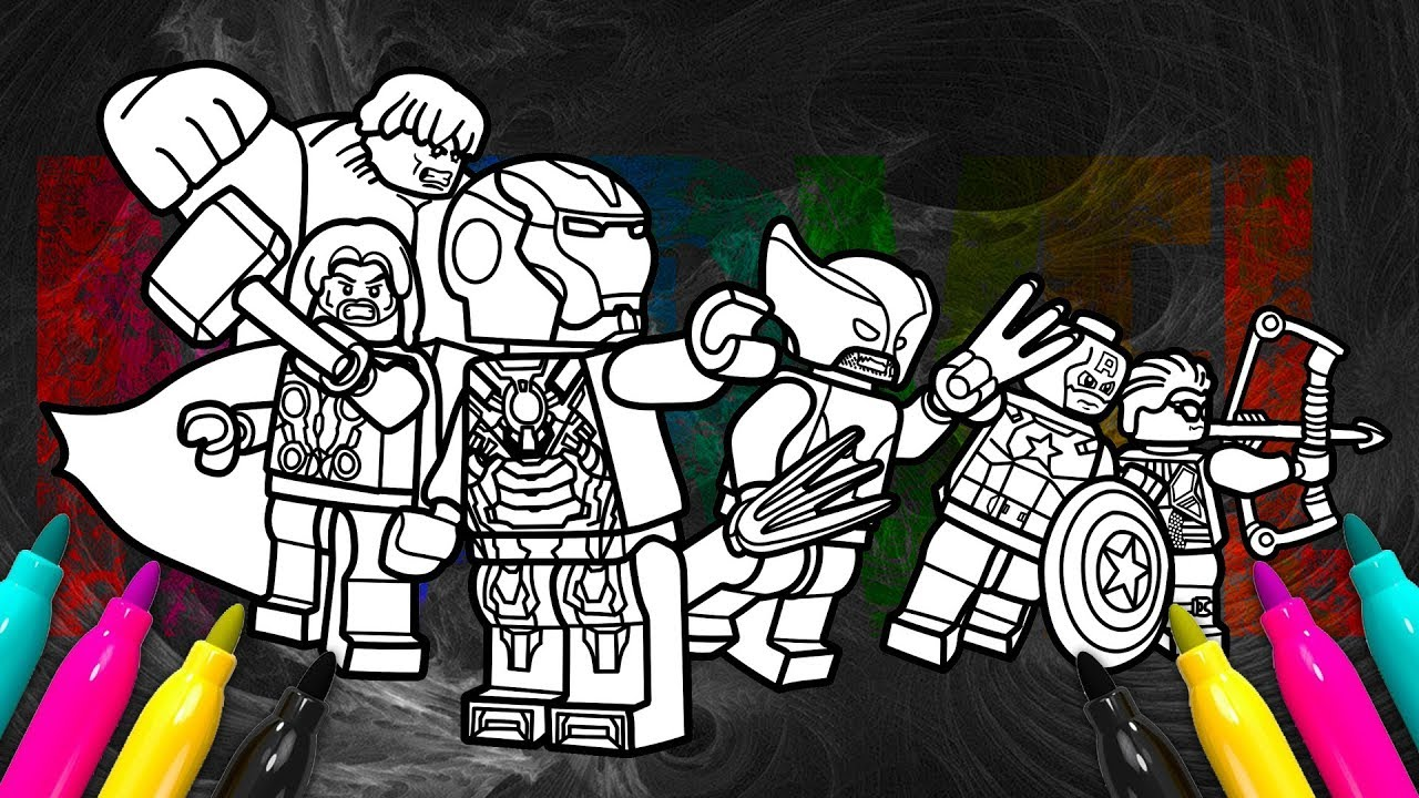 LEGO Marvel Avengers Assemble Coloring | Superheroes Coloring Book ...