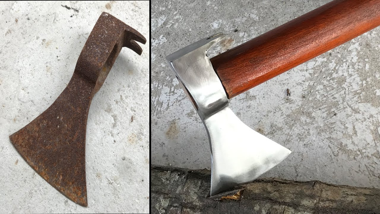 Amazing Restoration Old Rusty The Axe - Restore Handmade Tool Working