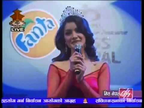 Great speech by Miss Nepal 2012 (Shristy Shrestha)