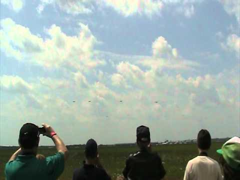WWII BOMBER FORMATION
