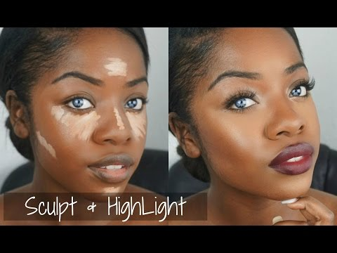 Makeup Tutorial: Sculpt & Highlight + Bold Lip