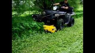 Rammy Flail mower 120 ATV. Lawn and hay meadow cutting. Nurmikon ja heinäniityn leikkaus