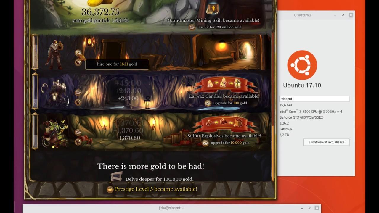 Goldmine (PC Game) with xdotool (Ubuntu Linux autoclicker)