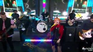 Paramore Still Into You Good Morning America 08 11