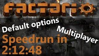 Factorio Speedrun (default options, multiplayer) in 2:12:48 by #Teamsteelaxe