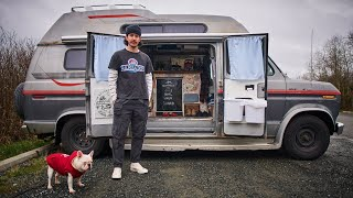 Solo Van Life. Liטing in a Van for 5 months Changed his Life. Camper Van Tour and Mini Documentary.