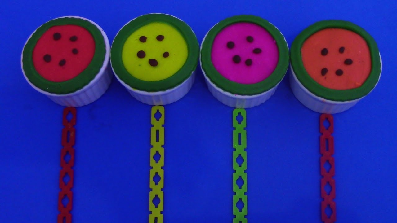 Watermelon Play Doh and Toys Surprise You-Tube