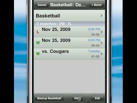 GameTrac for iPhone screencast