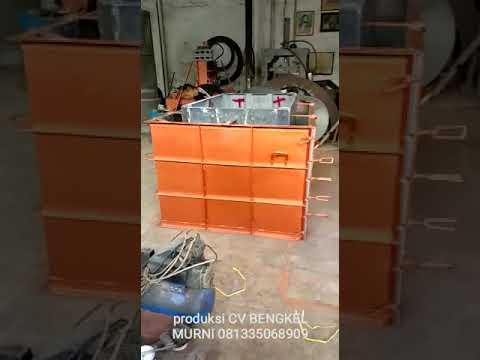 Cetakan beton buis kotak cetakan gorong gorong kotak box culvert - YouTube