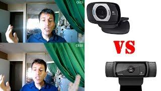 Logitech C615 VS C920 Side by Side Comparison