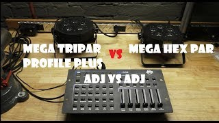 What's Brighter? - ADJ Mega Hex Par vs Mega Tripar Profile Plus
