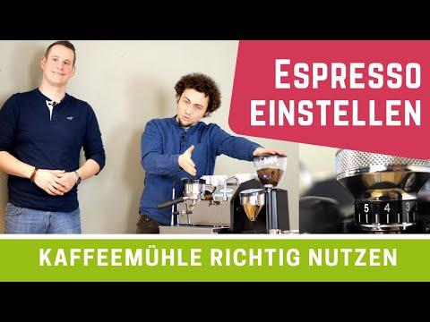 Kaffeemühle einstellen für Espresso (Tutorial)
