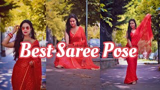 Best Saree Poses Elegant Saree Poses For Girls Myclicks Instagram