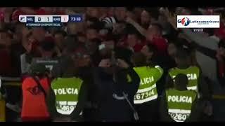 Millonarios vs America 0-1 Gol de Martinez Borja - Torneo Fox Sports - 19/Enero/2018