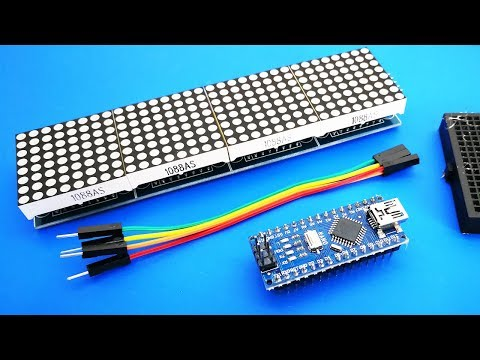 Arduino Text Scrolling Display | MAX7219 Dot Matrix 4-in-1