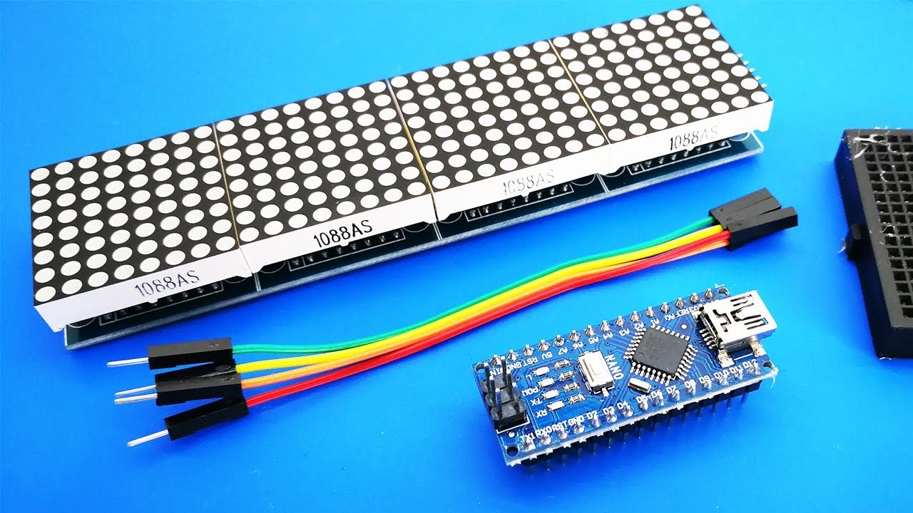 kwmobile MAX7219 Dot Matrix Module Component Bundles Red LED Matrix Display Module Control DIY Kit for Arduino and Raspberry Pi 8x8