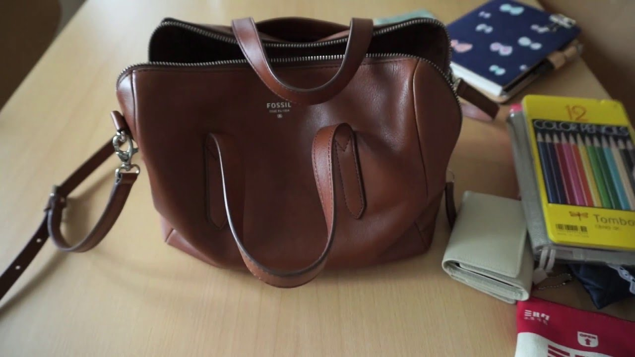 What S In My Work Bag Fossil Sydney Satchel