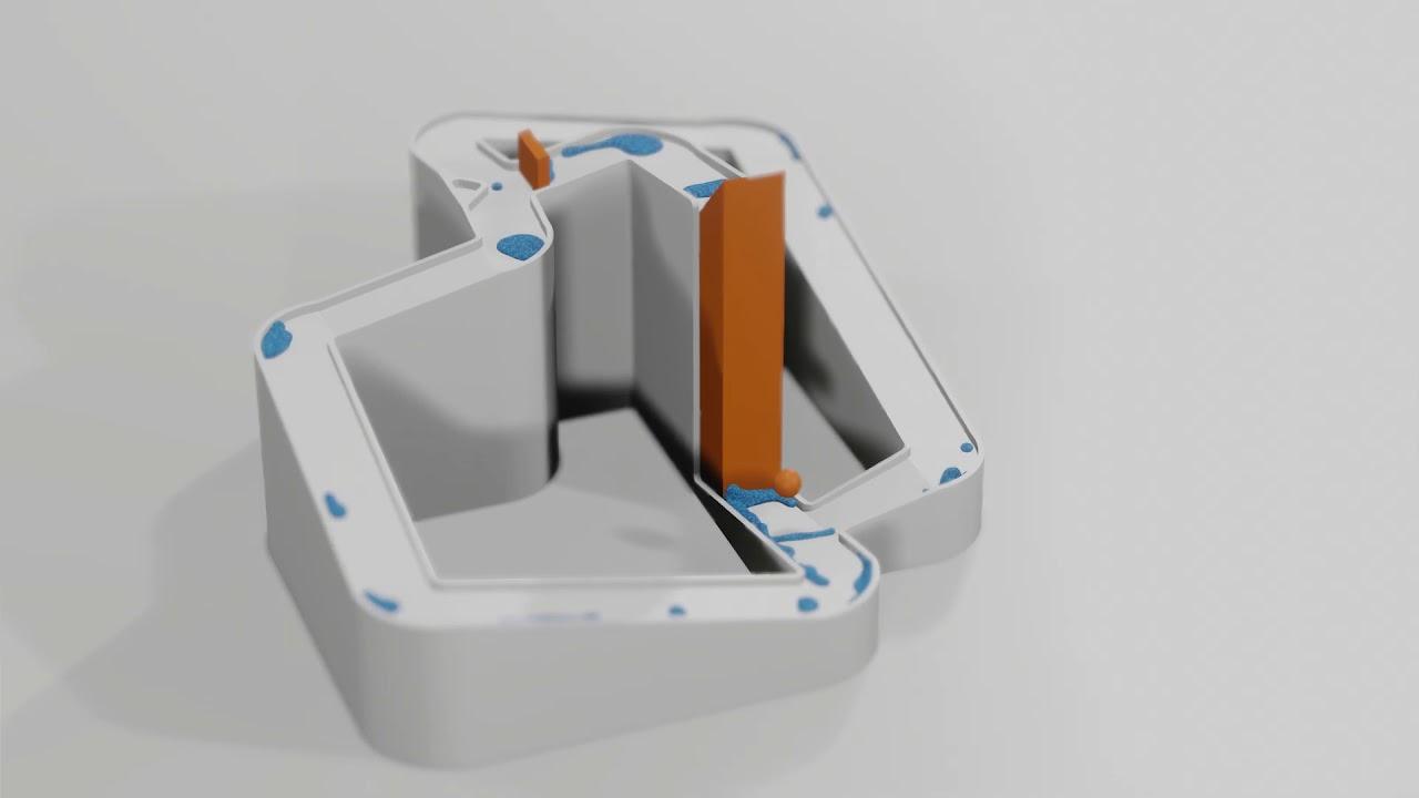 HD Particle fluid simulation - 33 [blender]