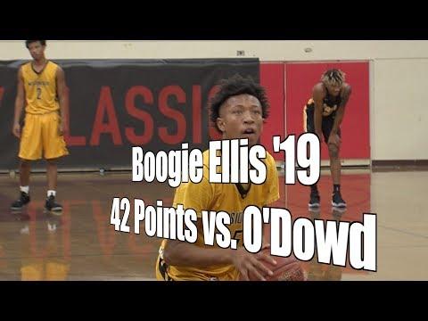 Boogie Ellis '19, Mission Bay, 42 Points vs. Bishop O'Dowd, 12/27/17