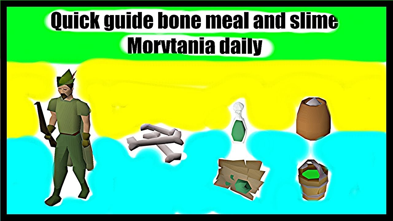 Bone meal and slime daily prayer xp and ecto tokens