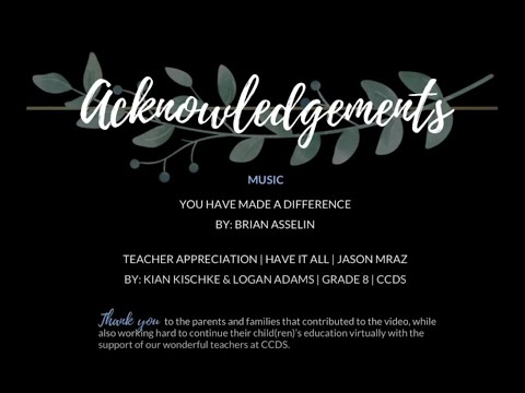 Canton Country Day School Teacher Appreciation 2020