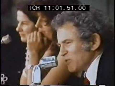 Norman Mailer discusses his protagonists and their penises