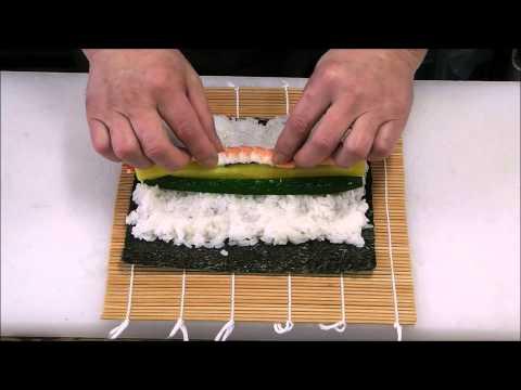 恵方巻(上太巻き寿司)の巻き方 - How to wrap the Lucky direction rolls.Special Futomaki sushi