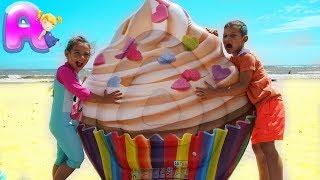 Anna vs Vania Mania play with big Ice Cream