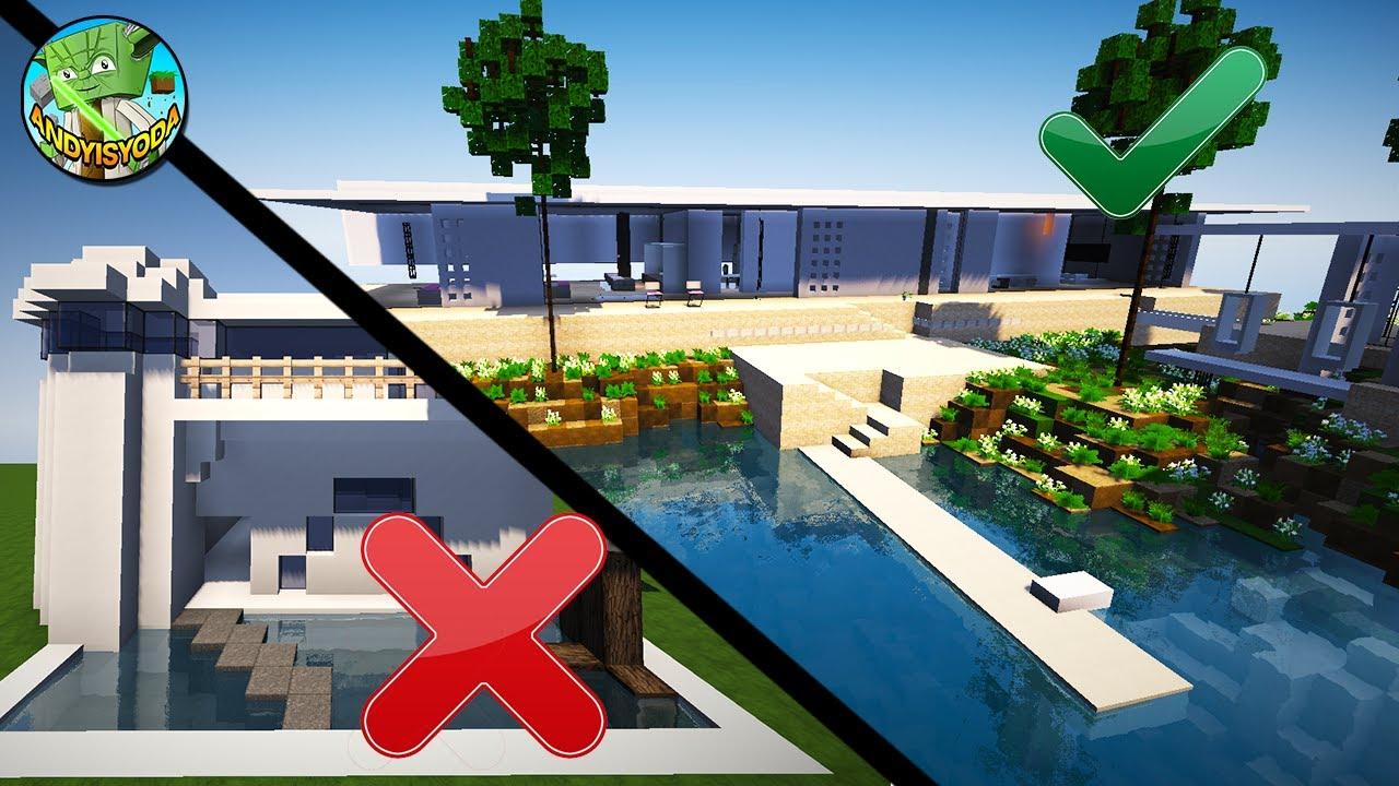10 easy minecraft modern house tips