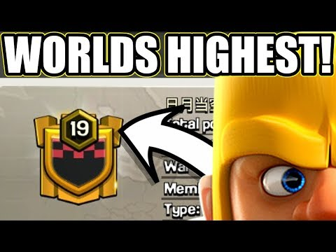 NEW WORLDS HIGHEST LEVEL CLAN! - Clash Of Clans - SO CLOSE TO MAX!