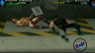 Kavin Owens vs Batista /smackdown pain /highlights backstage fight