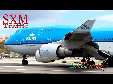 St. Maarten Action !!! 747-400, A320, MD-82, ATR... @ the Princess Juliana Int'l Airport