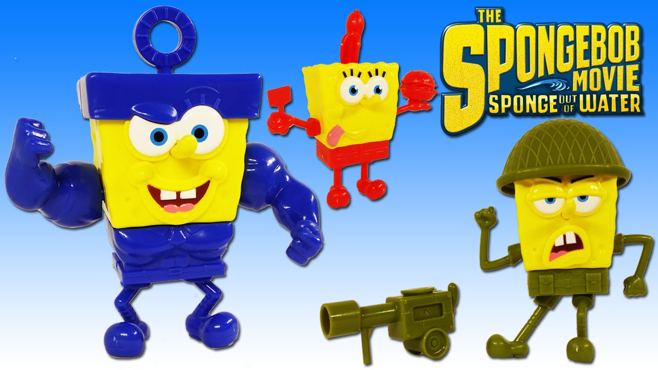 Spongebob Squarepants The Movie  4 Action Hero Figurines Set!