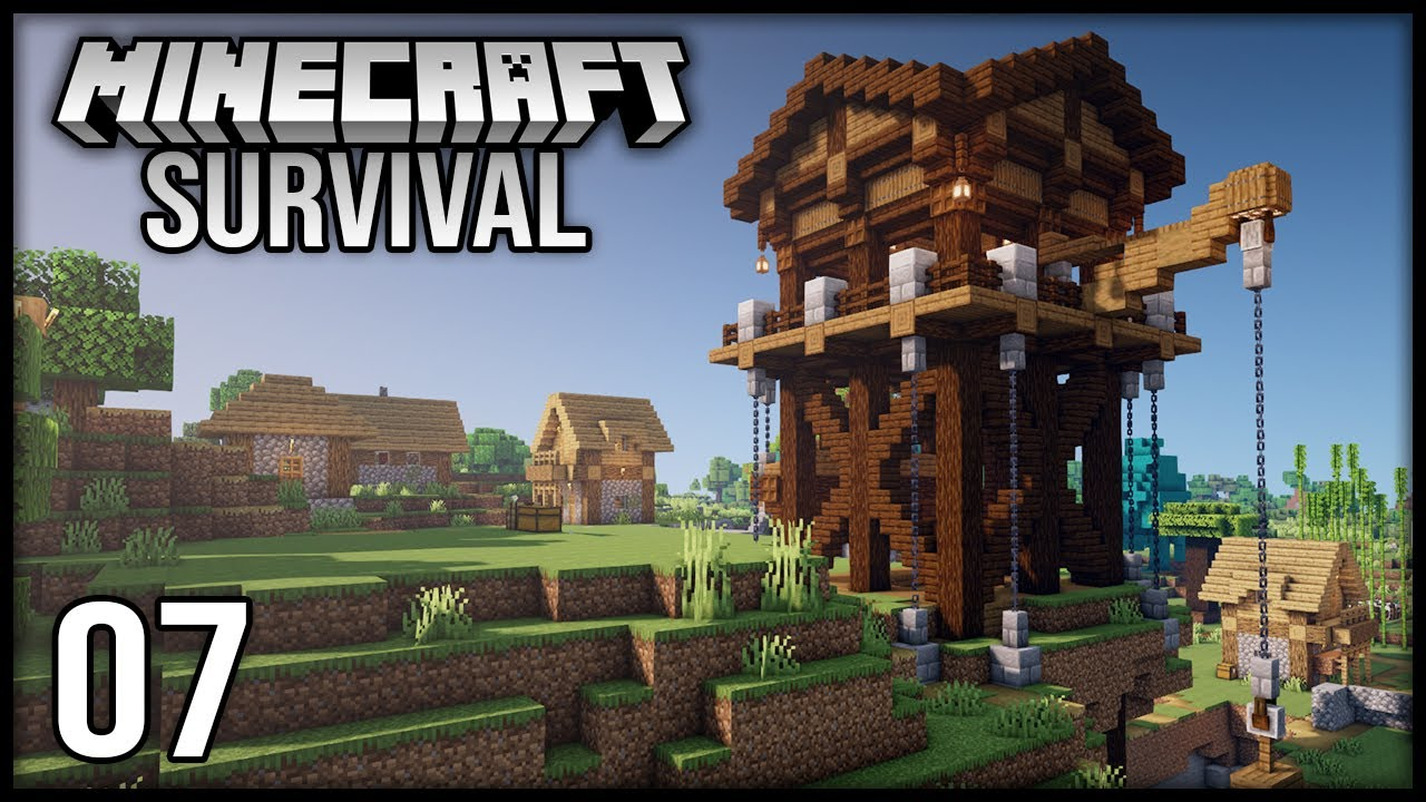 Minecraft 1.17 Survival Let's Play - Episode 7 - The Mining Outpost!