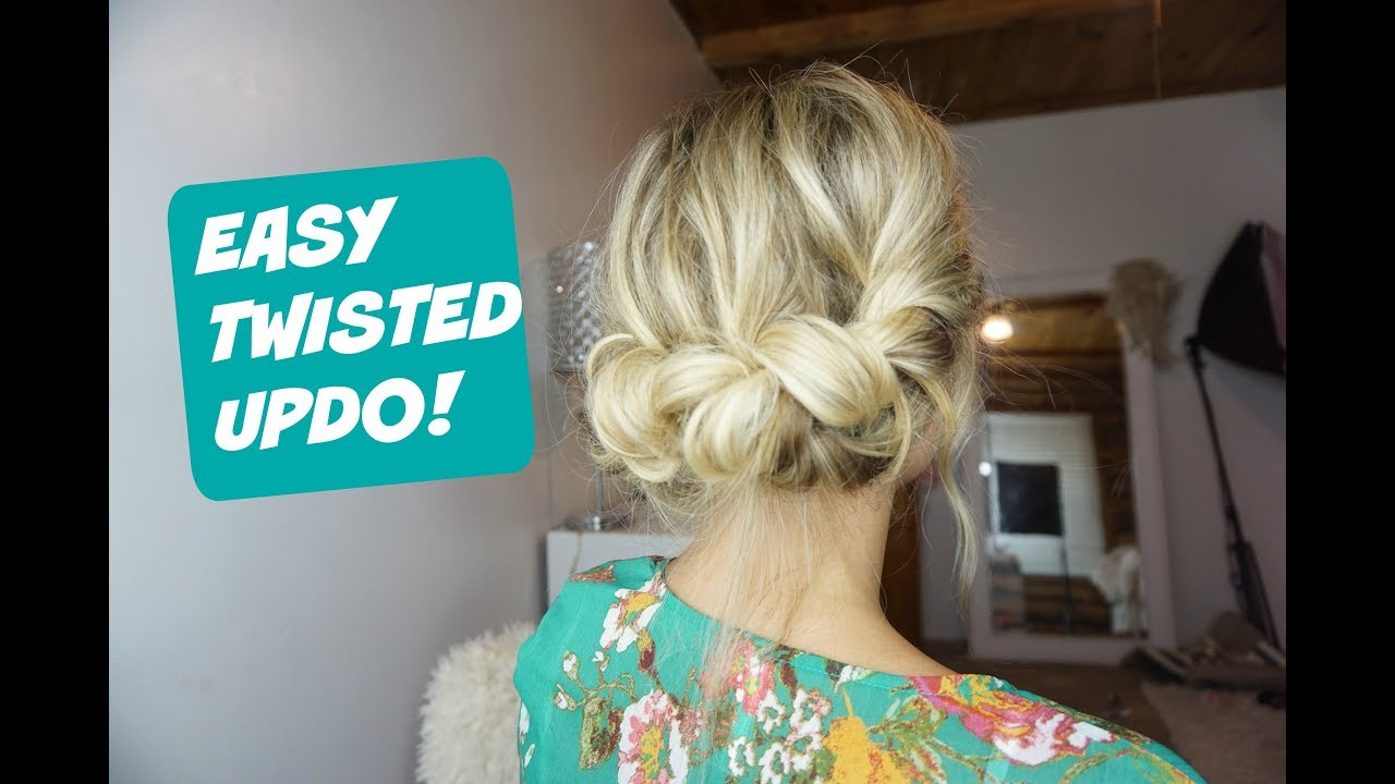 easy everyday updo! hairstyle for short, medium and long hair.