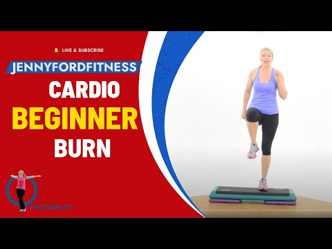 Basic Step Aerobics Workout - Quick 2 Combos - Fitness Cardio Burn Beginner