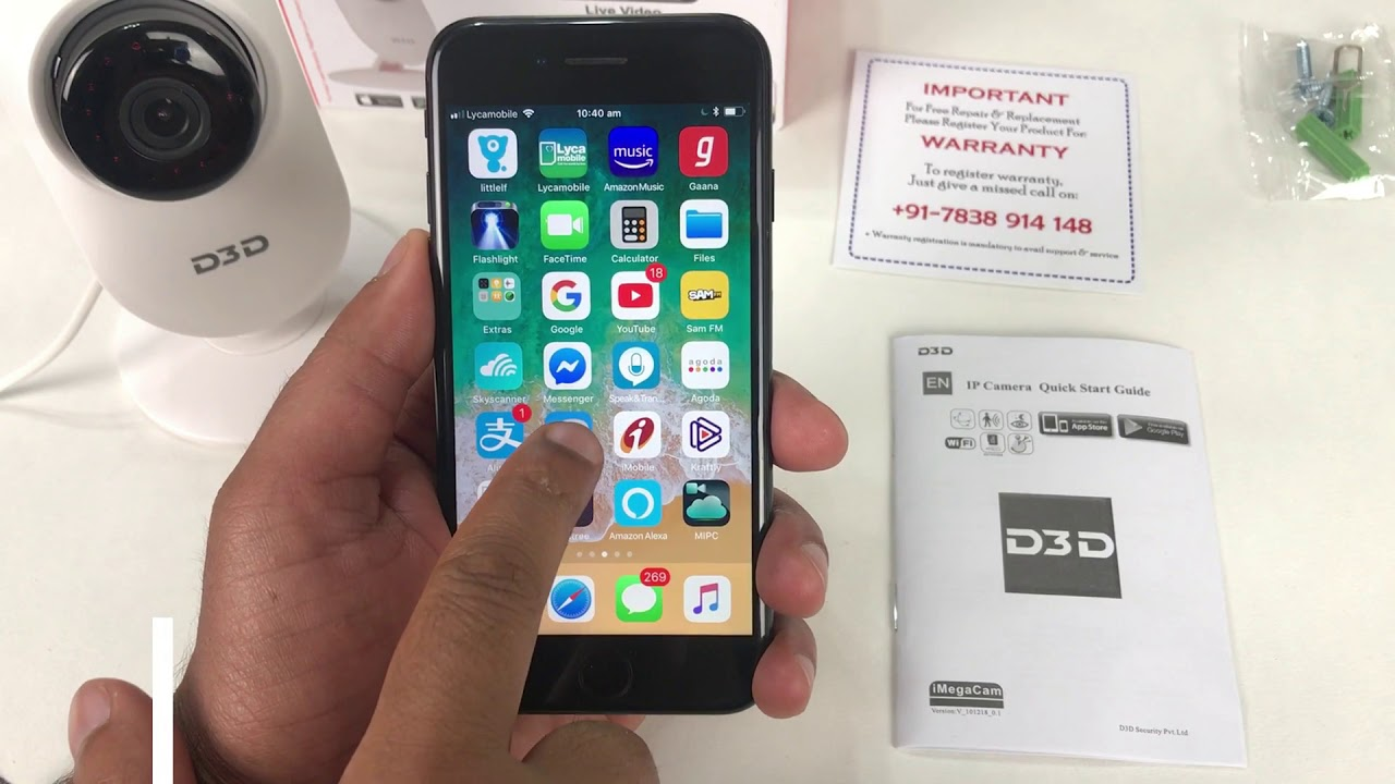 D3D D8817 Home Security IP Camera Installation Video