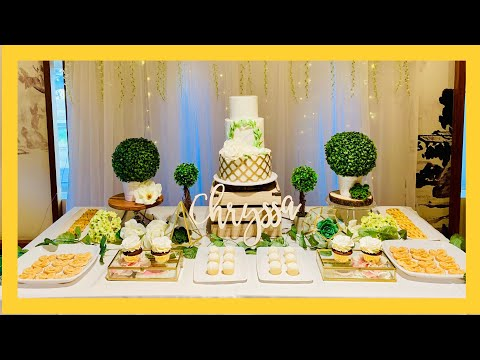 DIY dessert table for party! Supplies Party City, Dollar Tree, Walmart, Home sense and Dollar Rama!!