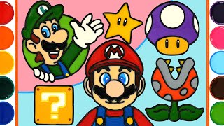 Super mario bros Jelly Coloring & Painting | How to make a picture of jelly, Satisfying Video
