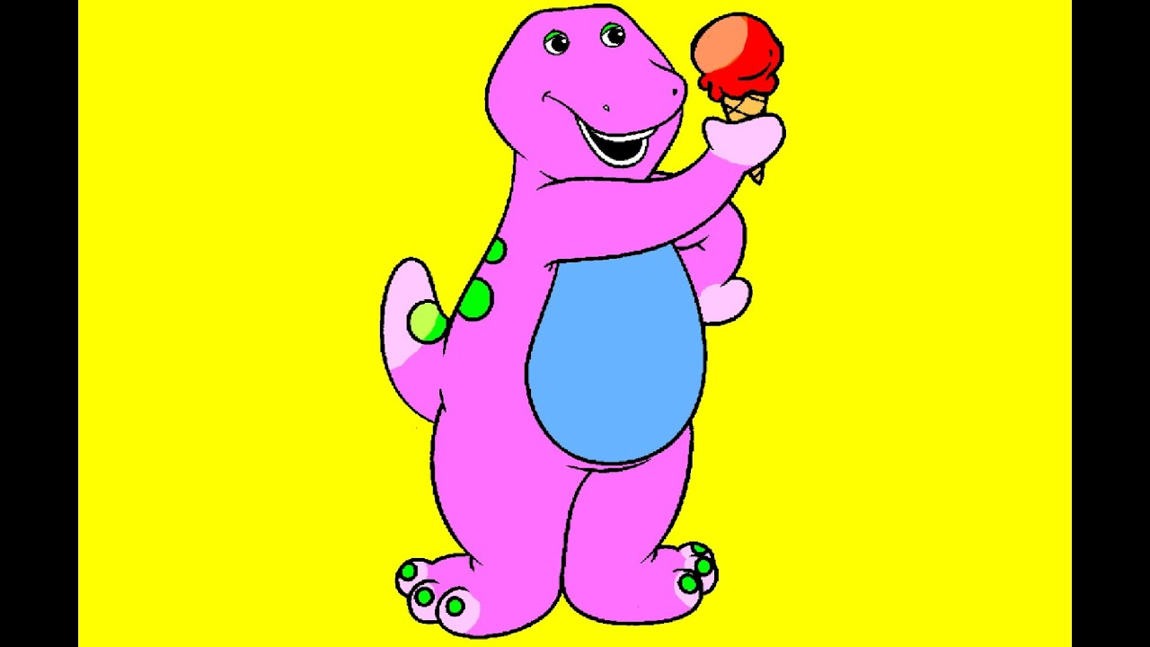 Barney The Dinosaur Coloring Page - YouTube
