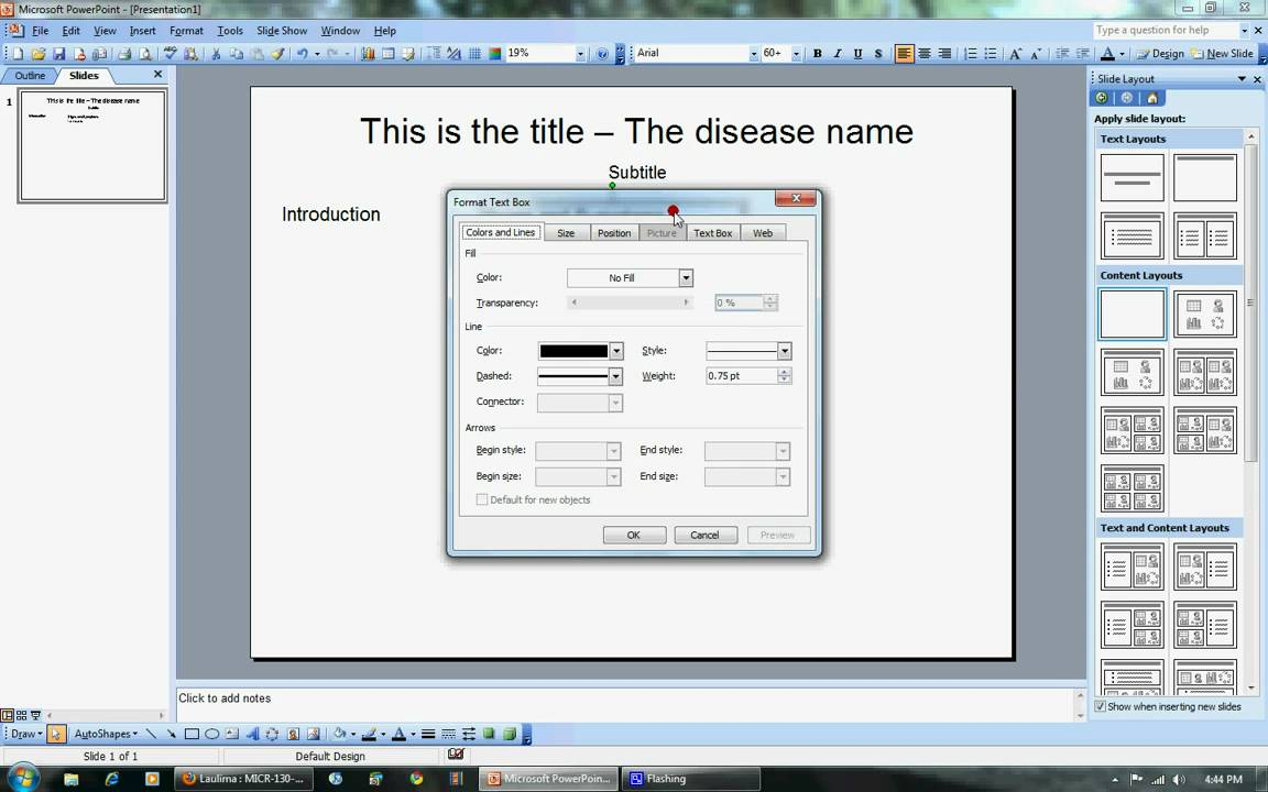 how to make your poster using powerpoint 2003 youtube