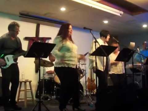 """Woven in White singing """"I Am A Friend of God"""" at New Glory Rock, 2/1/13."""