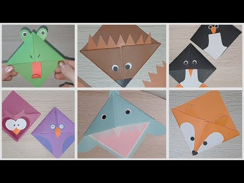 6 Animal Themed Corner Bookmarks!