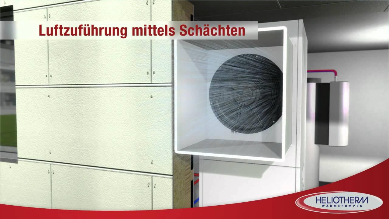 Luftwärmepumpe in Kompaktbauweise von Heliotherm - YouTube