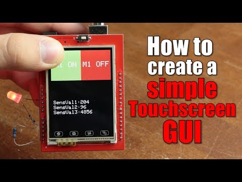 How to create a simple Touchscreen GUI || Arduino LCD & Touchscreen Tutorial: Only $2 for 10pcs PCBs (10cm*10cm): https://jlcpcb.com  Previous video: https://youtu.be/m-4sHRzexpQ Multiplexing video: https://youtu.be/uQMUPhyoXoE Facebook: https://www.facebook.com/greatscottlab Twitter: https://twitter.com/GreatScottLab Support me for more videos: https://www.patreon.com/GreatScott?ty=h  You can download my example code here: https://www.patreon.com/posts/20817428 You can get an 8-Bit Parallel TFT LCD here: (affiliate links) Amazon.com: https://amzn.to/2vLx3yD Ebay: http://rover.ebay.com/rover/1/711-53200-19255-0/1?icep_ff3=2&pub=5575101368&toolid=10001&campid=5337582279&customid=&icep_item=192163706724&ipn=psmain&icep_vectorid=229466&kwid=902099&mtid=824&kw=lg Amazon.de: https://amzn.to/2BkQnb8  Websites which were shown in the video: https://cdn-shop.adafruit.com/datasheets/ILI9341.pdf https://github.com/adafruit/TFTLCD-Library https://github.com/adafruit/Adafruit_TouchScreen https://www.nxp.com/wcm_documents/techzones/microcontrollers-techzone/Presentations/graphics.lcd.technologies.pdf https://www.sparkfun.com/datasheets/LCD/HOW%20DOES%20IT%20WORK.pdf  In this video I will show you how TFT LCDs and resistive touchscreens work and how we can utilize an Arduino in order to control them. At the end I will then show you how to create a simple GUI for an Arduino project which has a touchscreen as an input.   Thanks to JLCPCB for sponsoring this video Visit https://jlcpcb.com to get professional PCBs for low prices  Music: 2011 Lookalike by Bartlebeats