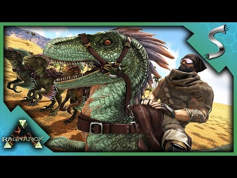 TAMING A RAPTOR HUNTING PACK! - Ark: RAGNAROK [DLC Gameplay S3E5]