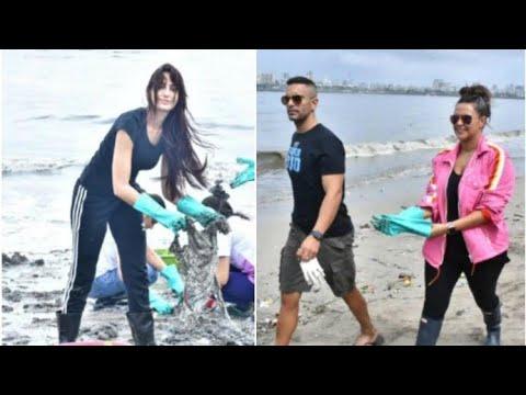 Nora Fatehi, Sussanne Khan, Neha Dhupia at Pragya Kapoor's Mahim Beach clean-up drive   SpotboyE Mp3